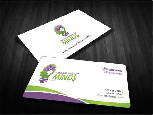 Medical Management Minds, LLC Business Cards and Stationery  Draft # 133 by Dawson