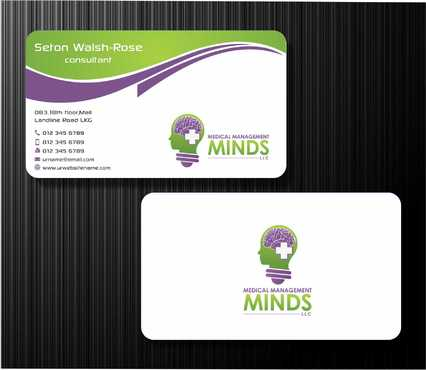 Medical Management Minds, LLC Business Cards and Stationery  Draft # 156 by Dawson