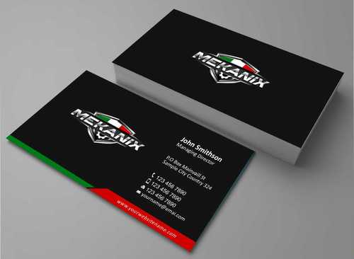 Mekanix Business Cards and Stationery  Draft # 95 by Dawson