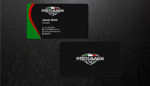 Mekanix Business Cards and Stationery  Draft # 129 by Dawson