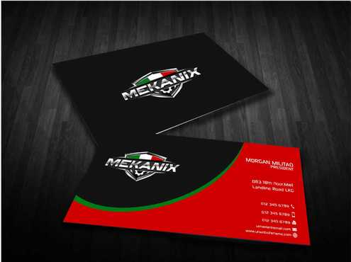 Mekanix Business Cards and Stationery  Draft # 132 by Dawson