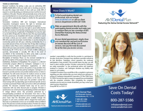 AVS Dental Plan Marketing collateral  Draft # 34 by ramazi