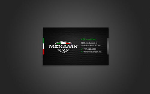 Mekanix Business Cards and Stationery Winning Design by einsanimation