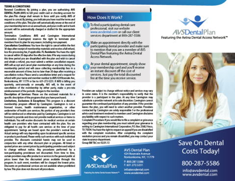 AVS Dental Plan Marketing collateral  Draft # 38 by ramazi