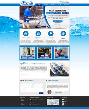 Titan Pressure Washing Complete Web Design Solution Winning Design by jogdesigner