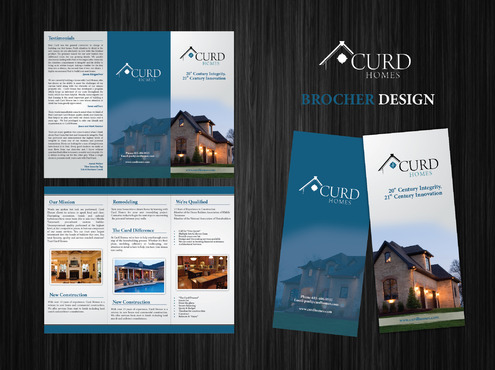 Curd Homes Brochure Marketing collateral  Draft # 6 by GenBullzzzz