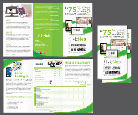 StyleNet Marketing collateral Winning Design by Achiver