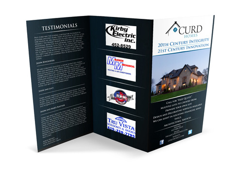 Curd Homes Brochure Marketing collateral  Draft # 22 by TMEdesign