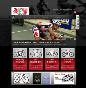 Copenhagen Bike Show Complete Web Design Solution  Draft # 69 by Waqas