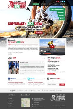Copenhagen Bike Show Complete Web Design Solution Winning Design by itmech