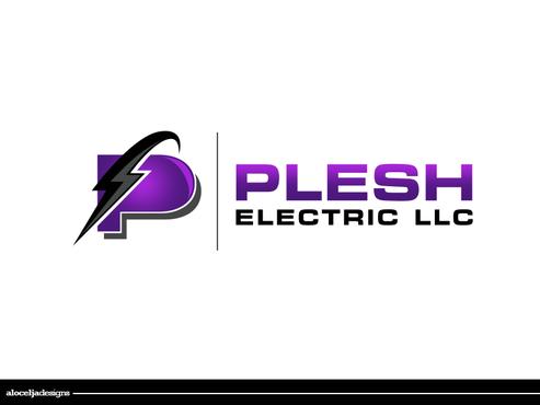 PLESH ELECTRIC LLC Logo Winning Design By Alocelja