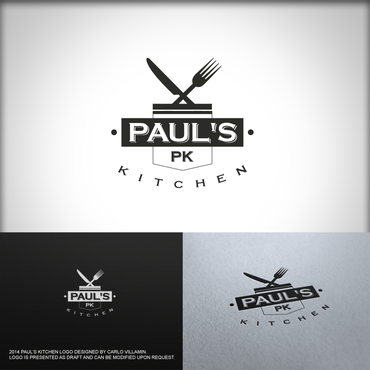 Paul's Kitchen and PK A Logo, Monogram, or Icon  Draft # 17 by carlovillamin