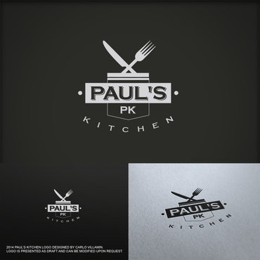 Paul's Kitchen and PK A Logo, Monogram, or Icon  Draft # 18 by carlovillamin