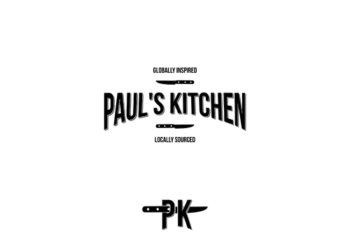 Paul's Kitchen and PK A Logo, Monogram, or Icon  Draft # 22 by JuloMN