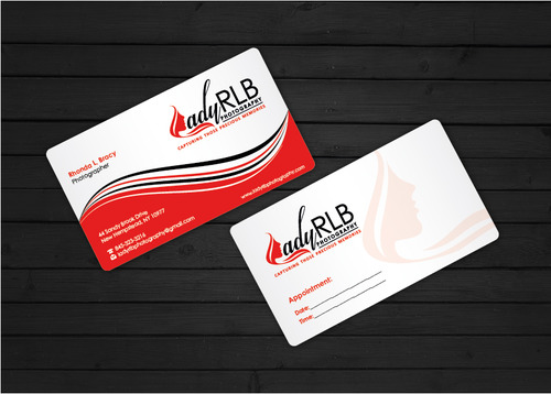 Lady RLB Photography Business Cards and Stationery  Draft # 236 by i3designer