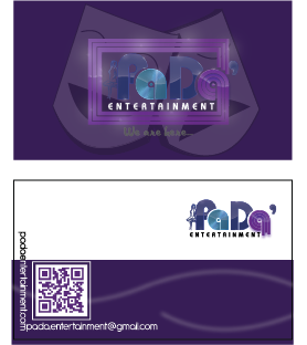 PaDa' entertainment Business Cards and Stationery  Draft # 265 by Janmagne12