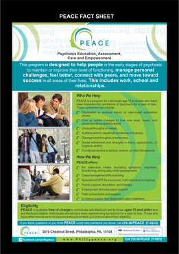 PEACE program services Marketing collateral  Draft # 30 by asifwarsi