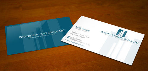 Powers Advisory Group LLC Business Cards and Stationery  Draft # 170 by sevensky