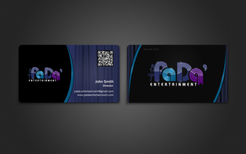 PaDa' entertainment Business Cards and Stationery  Draft # 272 by einsanimation