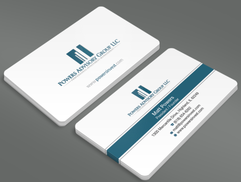 Powers Advisory Group LLC Business Cards and Stationery  Draft # 329 by waterdropdesign