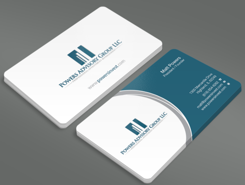 Powers Advisory Group LLC Business Cards and Stationery  Draft # 330 by waterdropdesign