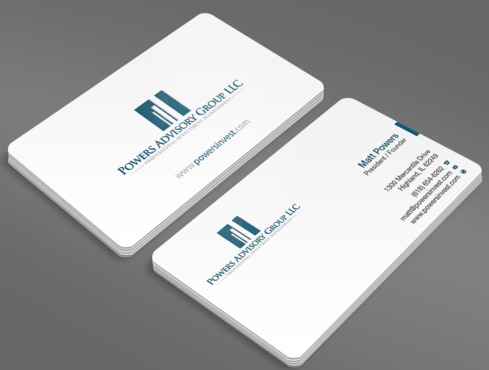 Powers Advisory Group LLC Business Cards and Stationery  Draft # 332 by waterdropdesign
