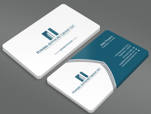 Powers Advisory Group LLC Business Cards and Stationery  Draft # 338 by waterdropdesign