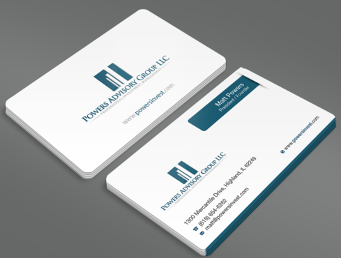 Powers Advisory Group LLC Business Cards and Stationery  Draft # 339 by waterdropdesign