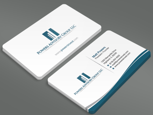 Powers Advisory Group LLC Business Cards and Stationery  Draft # 346 by waterdropdesign