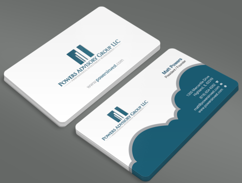 Powers Advisory Group LLC Business Cards and Stationery  Draft # 349 by waterdropdesign