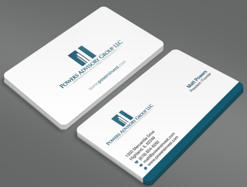 Powers Advisory Group LLC Business Cards and Stationery  Draft # 357 by waterdropdesign
