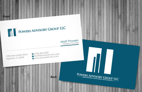 Powers Advisory Group LLC Business Cards and Stationery  Draft # 360 by sevensky