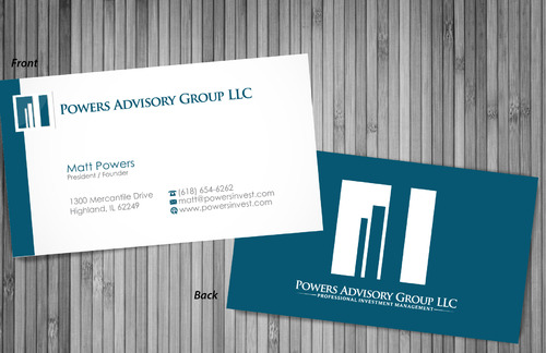 Powers Advisory Group LLC Business Cards and Stationery  Draft # 361 by sevensky