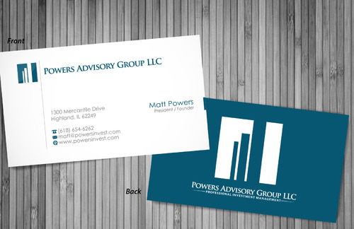 Powers Advisory Group LLC Business Cards and Stationery  Draft # 362 by sevensky