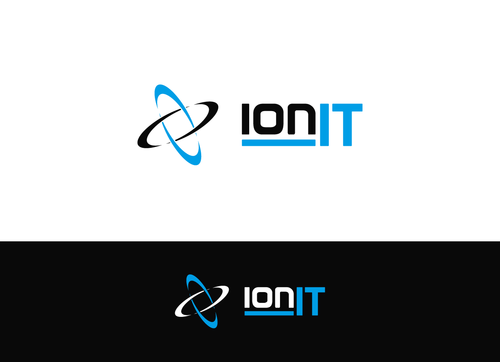modern high tech logo for it management company by ionit