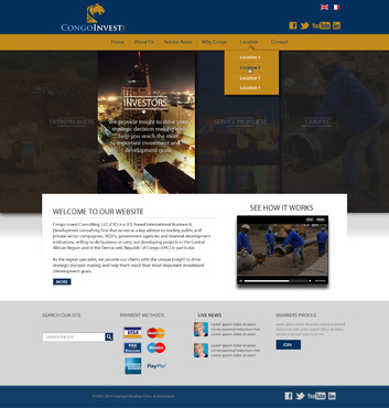 CongoInvest - connecting opportunities Web Design  Draft # 94 by leonydazz