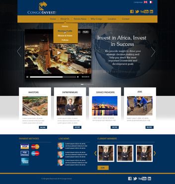 CongoInvest - connecting opportunities Web Design  Draft # 102 by leonydazz