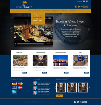 CongoInvest - connecting opportunities Web Design  Draft # 104 by leonydazz