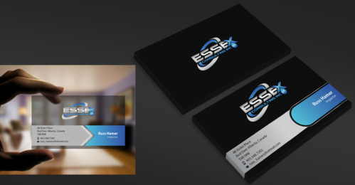 Essex Consulting Business Cards and Stationery  Draft # 339 by waterdropdesign