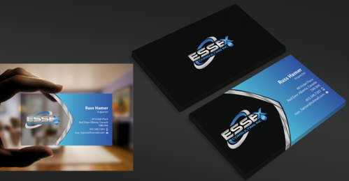 Essex Consulting Business Cards and Stationery  Draft # 340 by waterdropdesign