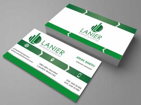 Lanier logo stationery Business Cards and Stationery  Draft # 158 by Dawson
