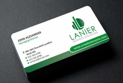 Lanier logo stationery Business Cards and Stationery  Draft # 168 by Dawson