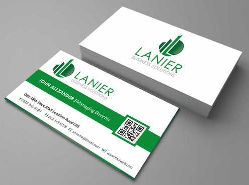 Lanier logo stationery Business Cards and Stationery  Draft # 170 by Dawson