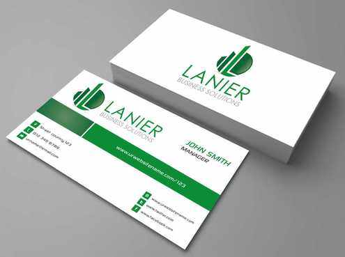 Lanier logo stationery Business Cards and Stationery  Draft # 190 by Dawson
