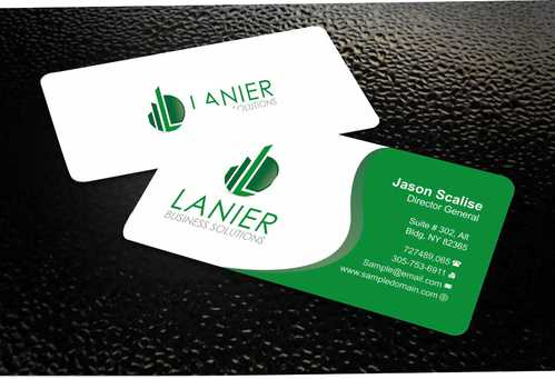 Lanier logo stationery Business Cards and Stationery  Draft # 223 by Dawson