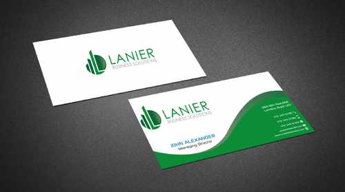 Lanier logo stationery Business Cards and Stationery  Draft # 224 by Dawson