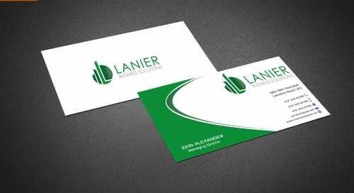 Lanier logo stationery Business Cards and Stationery  Draft # 225 by Dawson