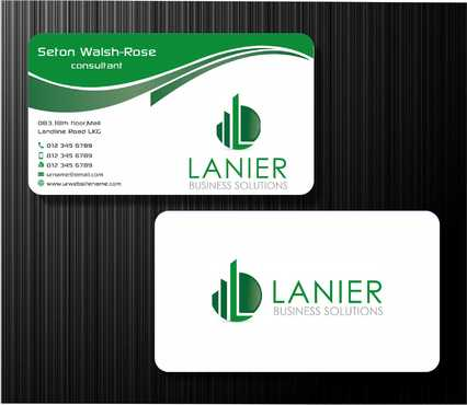 Lanier logo stationery Business Cards and Stationery  Draft # 228 by Dawson