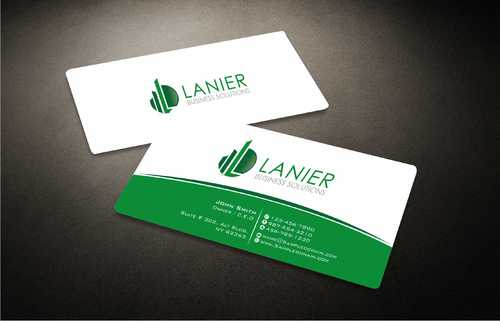 Lanier logo stationery Business Cards and Stationery  Draft # 230 by Dawson