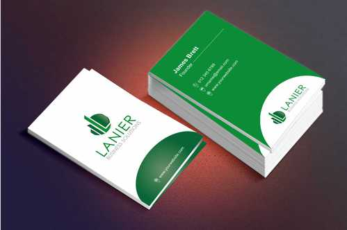 Lanier logo stationery Business Cards and Stationery  Draft # 233 by Dawson